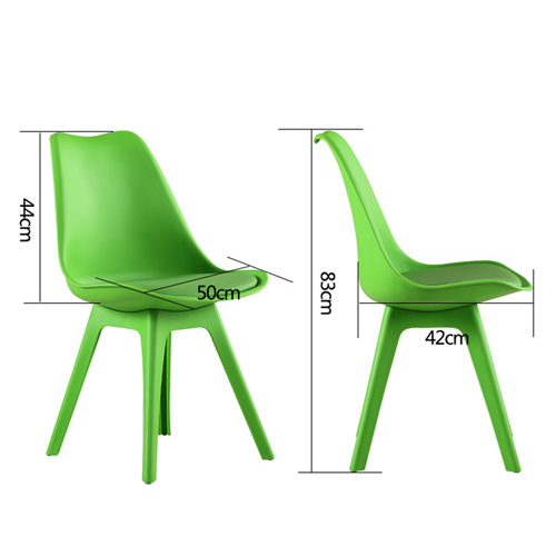 Nordic Plastic Chair with Padded Seat Image 20