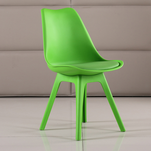 Nordic Plastic Chair with Padded Seat Image 7