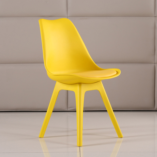 Nordic Plastic Chair with Padded Seat