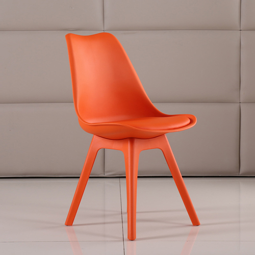 Nordic Plastic Chair with Padded Seat Image 8