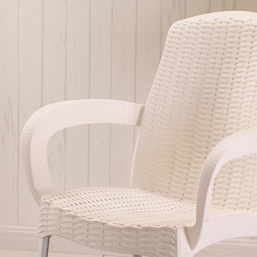 Rattan Plastic Chair With Aluminum Legs Image 9