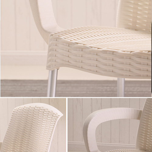 Rattan Plastic Chair With Aluminum Legs Image 10
