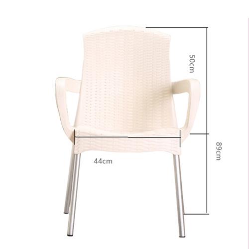 Rattan Plastic Chair With Aluminum Legs Image 12