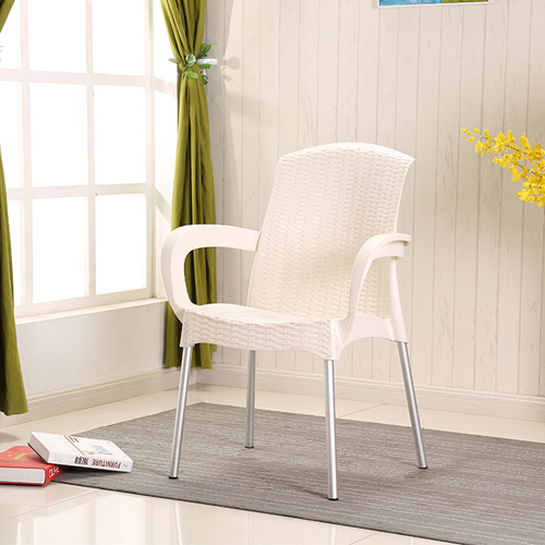 Rattan Plastic Chair With Aluminum Legs Image 3
