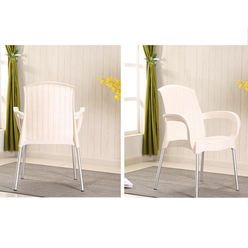 Rattan Plastic Chair With Aluminum Legs Image 4