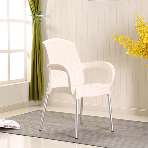 Rattan Plastic Chair With Aluminum Legs Image 6