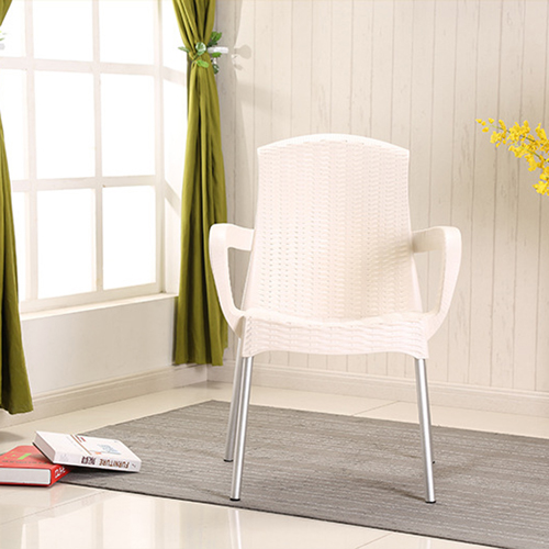 Rattan Plastic Chair With Aluminum Legs Image 7