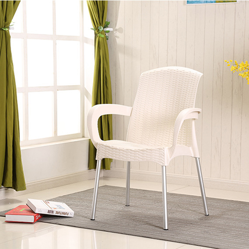 Rattan Plastic Chair With Aluminum Legs Image 8