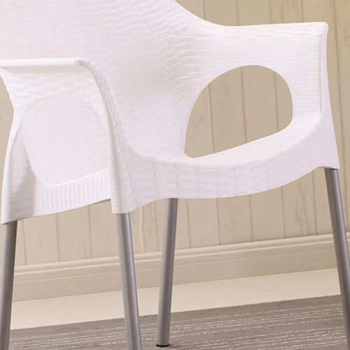 Affluex Plastic Rattan Chair With Aluminum Leg Image 10