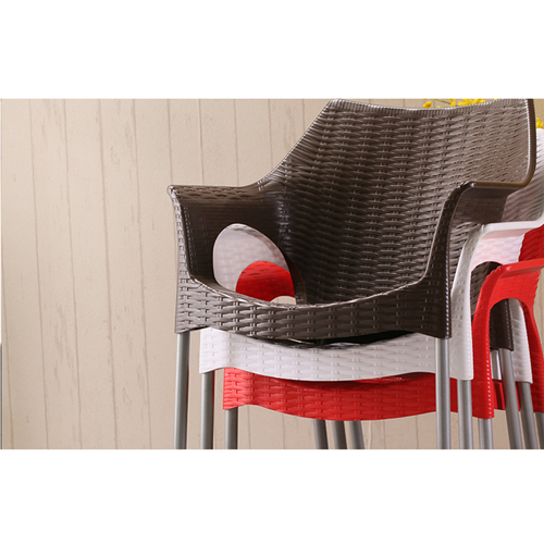 Affluex Plastic Rattan Chair With Aluminum Leg Image 11