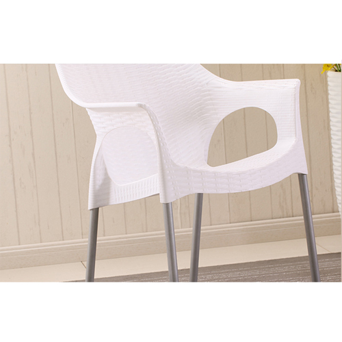 Affluex Plastic Rattan Chair With Aluminum Leg