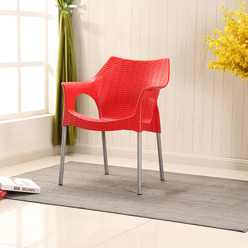 Affluex Plastic Rattan Chair With Aluminum Leg Image 2