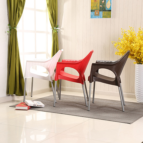 Affluex Plastic Rattan Chair With Aluminum Leg Image 3