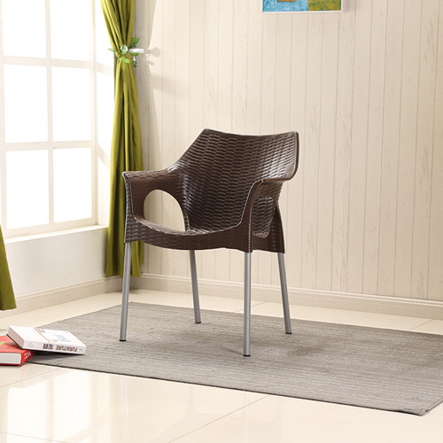 Affluex Plastic Rattan Chair With Aluminum Leg Image 5