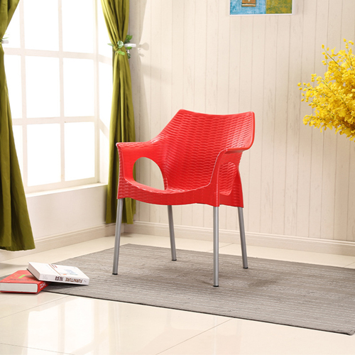 Affluex Plastic Rattan Chair With Aluminum Leg Image 6