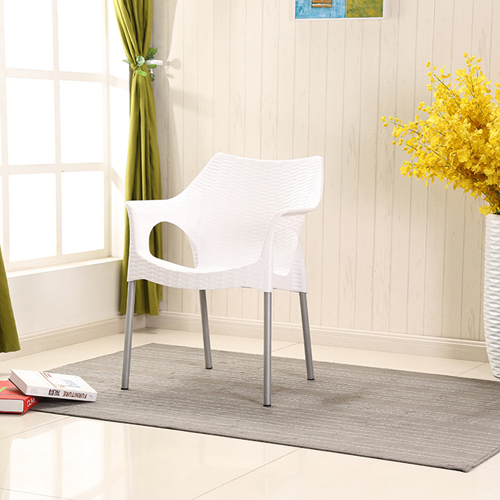 Affluex Plastic Rattan Chair With Aluminum Leg Image 7