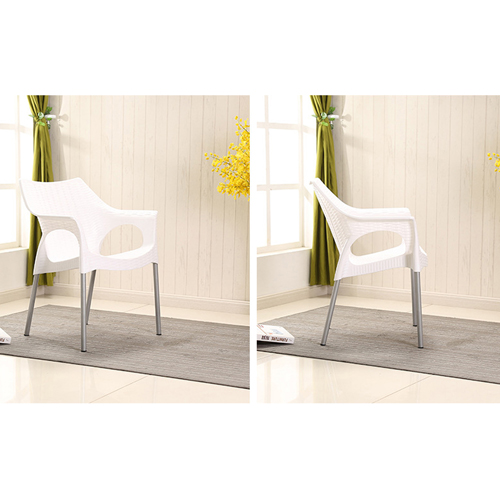 Affluex Plastic Rattan Chair With Aluminum Leg Image 9