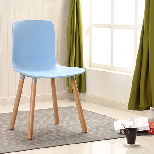 Mid-Century Wood Legs Chair Image 1