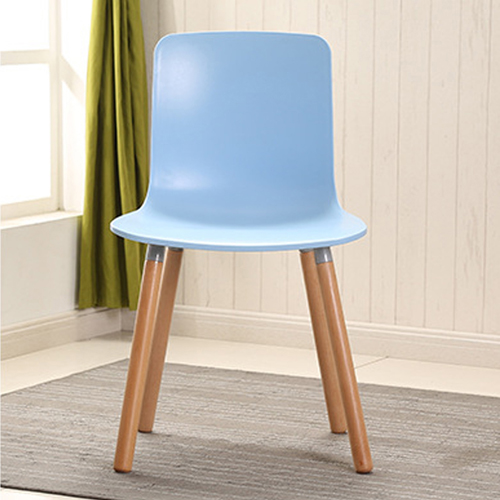 Mid-Century Wood Legs Chair Image 8