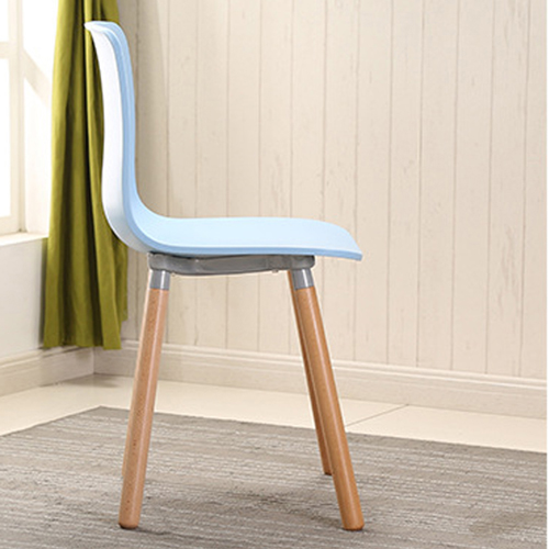 Mid-Century Wood Legs Chair Image 9
