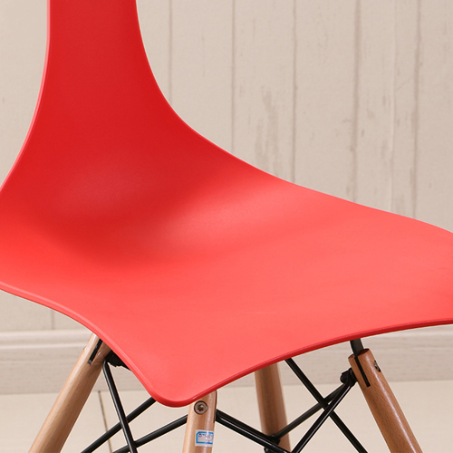 Fishtail Eiffel Chair with Wooden Legs Image 10