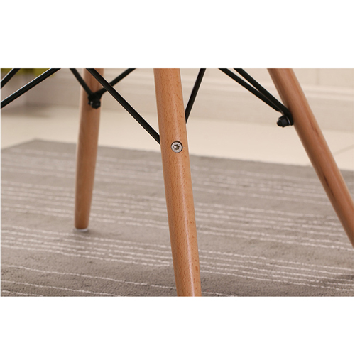Fishtail Eiffel Chair with Wooden Legs Image 14