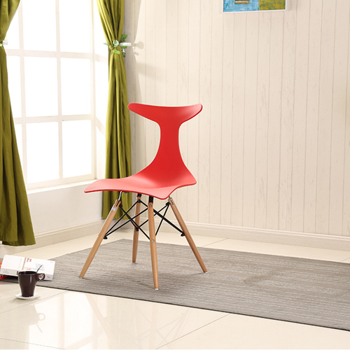 Fishtail Eiffel Chair with Wooden Legs Image 1