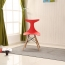 Fishtail Eiffel Chair with Wooden Legs Image 2