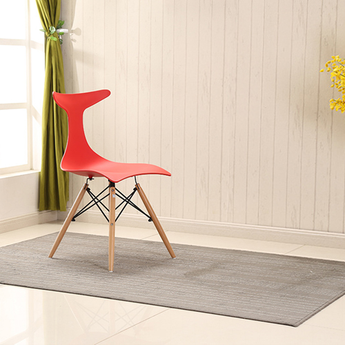 Fishtail Eiffel Chair with Wooden Legs Image 4