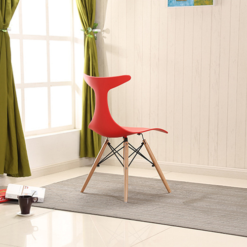 Fishtail Eiffel Chair with Wooden Legs Image 7