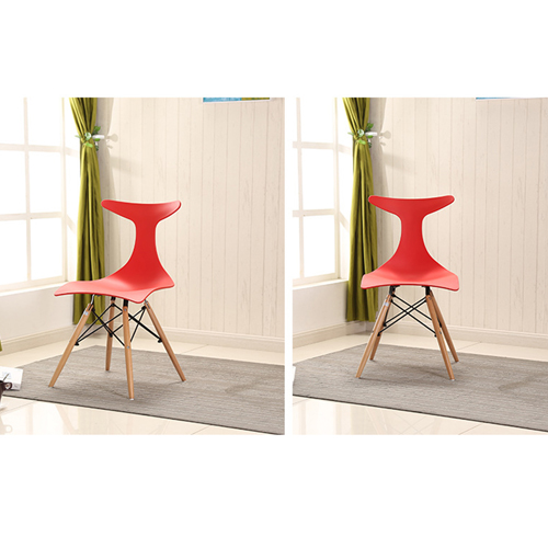 Fishtail Eiffel Chair with Wooden Legs Image 8