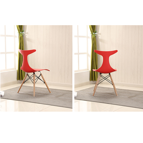 Fishtail Eiffel Chair with Wooden Legs Image 9