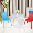 Ziore Hollow Design Stackable Chair Image 9
