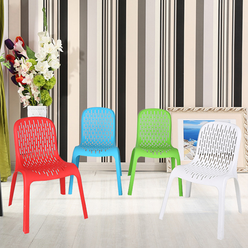 Ziore Hollow Design Stackable Chair Image 3