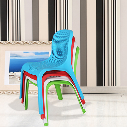Ziore Hollow Design Stackable Chair Image 4
