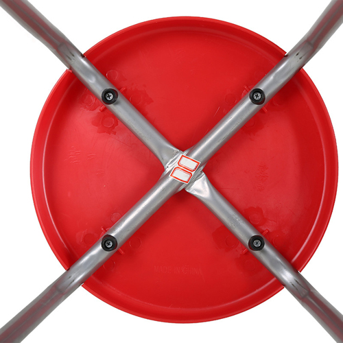Retract Round Stacking Stool With Metal Leg Image 11