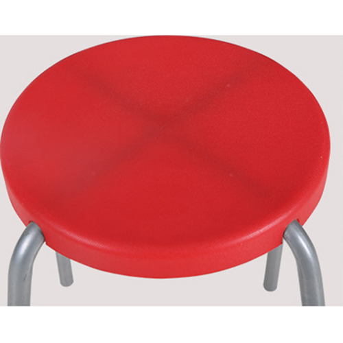 Retract Round Stacking Stool With Metal Leg Image 12