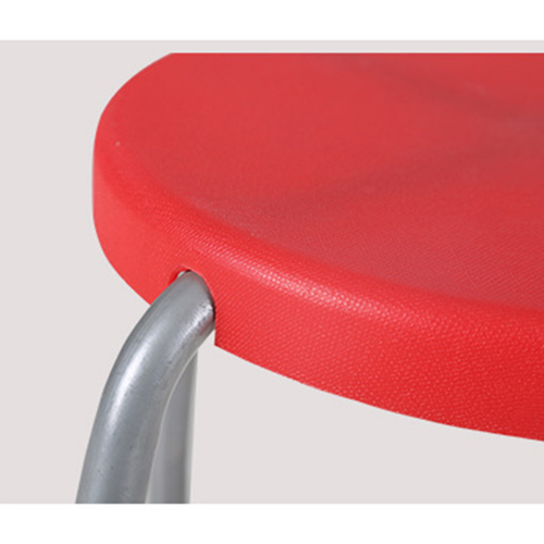 Retract Round Stacking Stool With Metal Leg Image 13