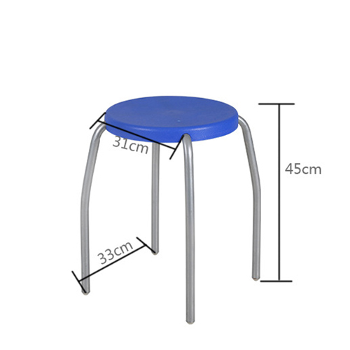 Retract Round Stacking Stool With Metal Leg Image 16