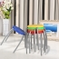 Retract Round Stacking Stool With Metal Leg Image 4