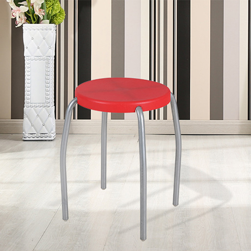 Retract Round Stacking Stool With Metal Leg Image 5