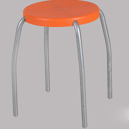 Retract Round Stacking Stool With Metal Leg Image 6