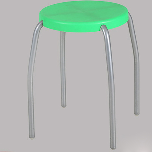 Retract Round Stacking Stool With Metal Leg Image 7