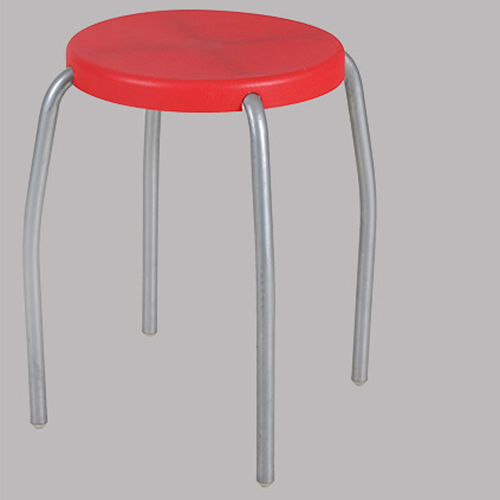 Retract Round Stacking Stool With Metal Leg Image 8