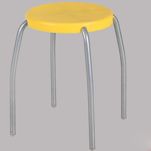 Retract Round Stacking Stool With Metal Leg