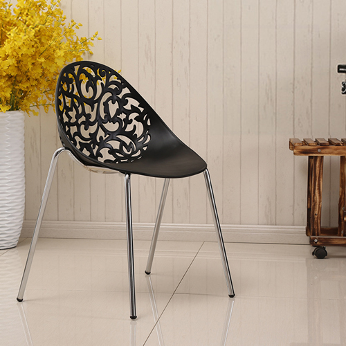 Modern Hollow-Out Flowers Chair Image 1