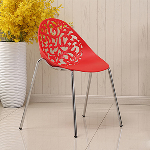 Modern Hollow-Out Flowers Chair Image 4