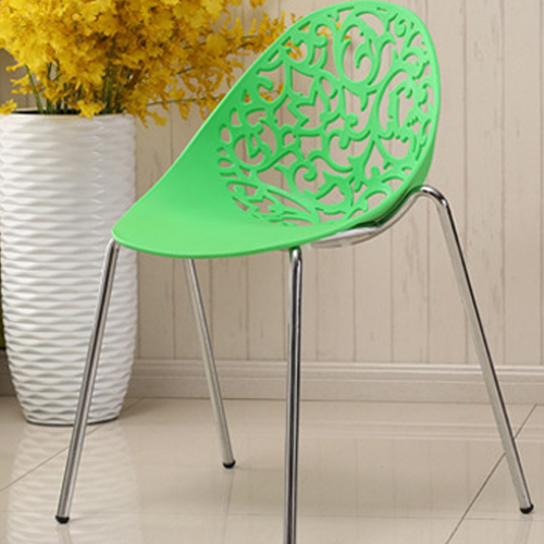 Modern Hollow-Out Flowers Chair Image 8