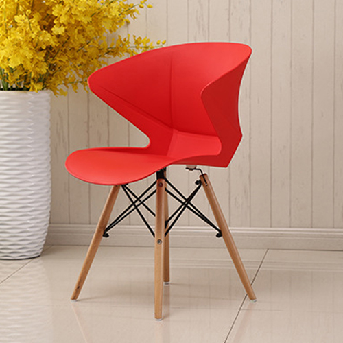 Molded Plastic Dowel-Leg Armchair