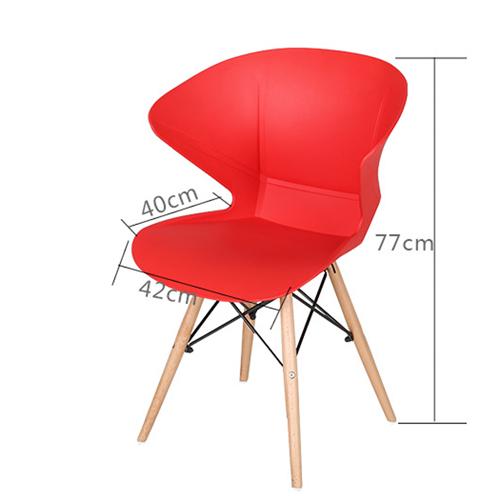 Molded Plastic Dowel-Leg Armchair Image 15
